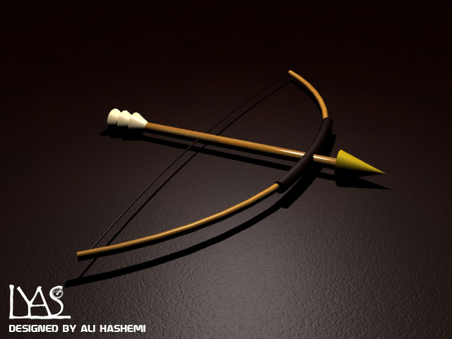 3D Design-Game Modeling-Bow and arrow | lyasstudio