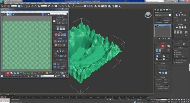 How to paint your 3D max terrain and import it to unity3d | lyasstudio