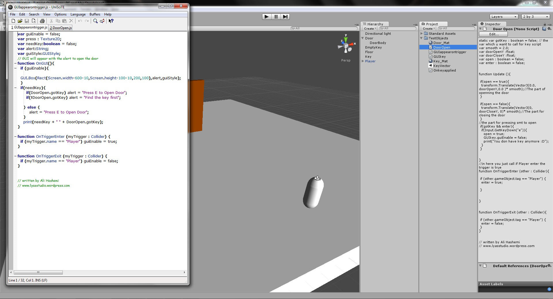 how to make an object appear and disappear in unity